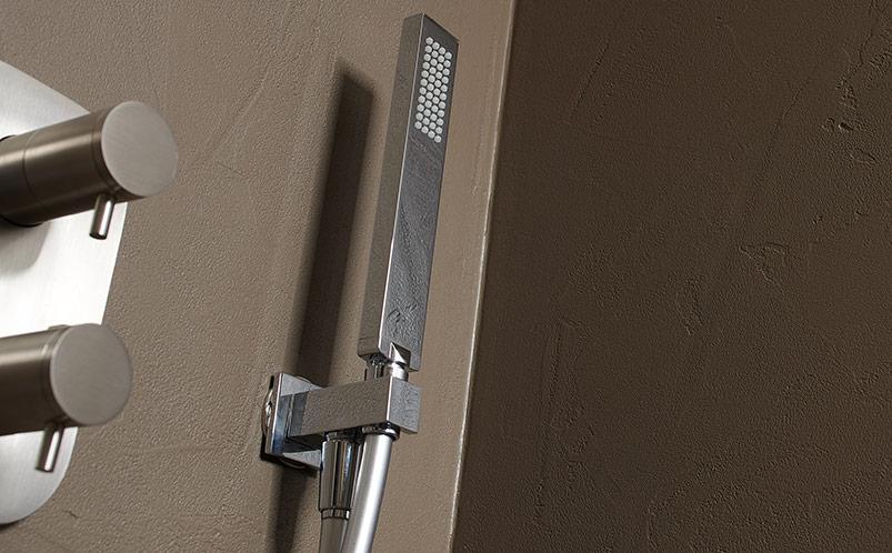 Delo - scegliere una doccetta - set doccia quadrato in ottone