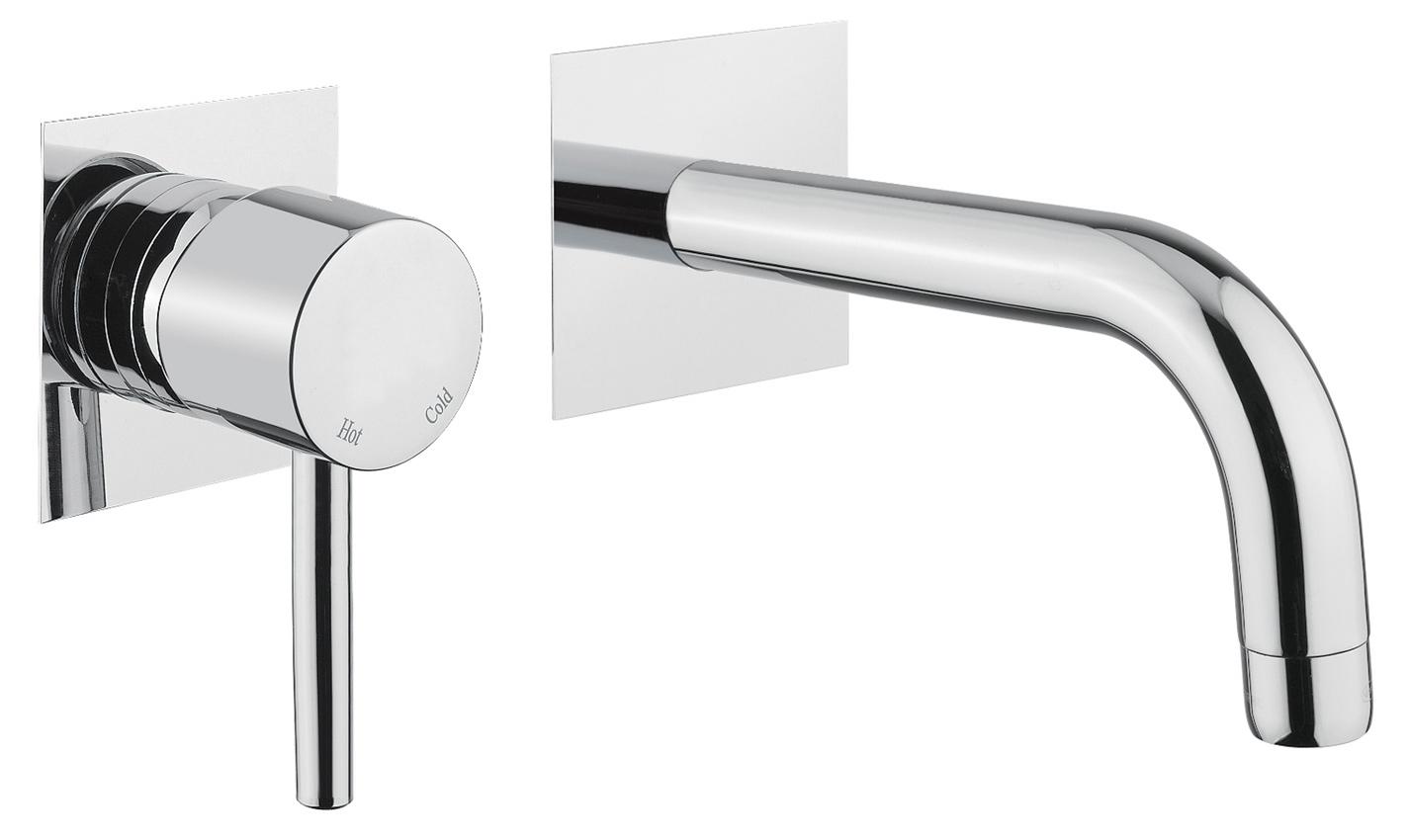 Delo - miscelatore da lavabo a parete 2 pezzi - TONDA cod. 3021013