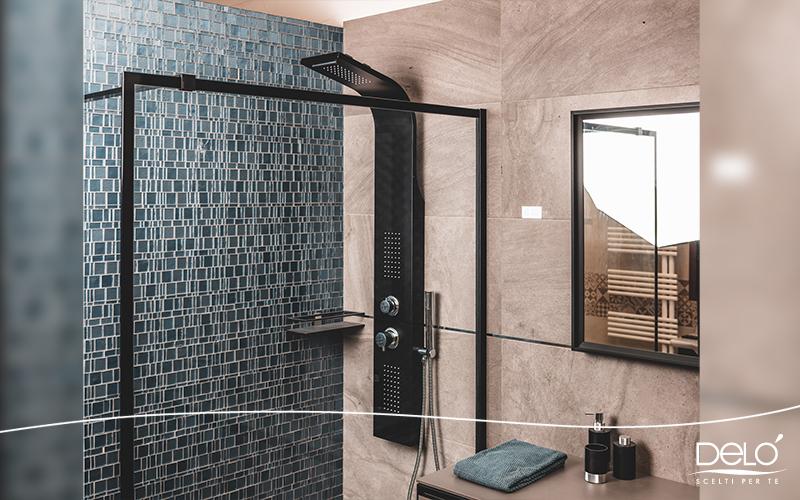 Delò - blogpost ristrutturare il bagno - colonna doccia selene nera