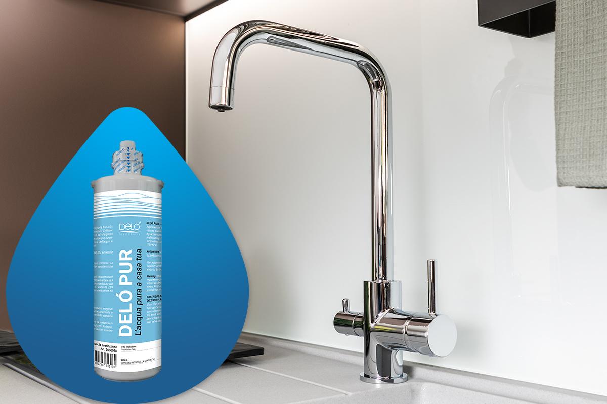 Delò Pur - kit filtrazione acqua - foto packshot ambientata